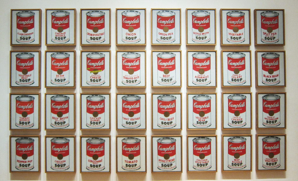 Andy Warhol Soup Cans Photo Hamilton Lindley Blog